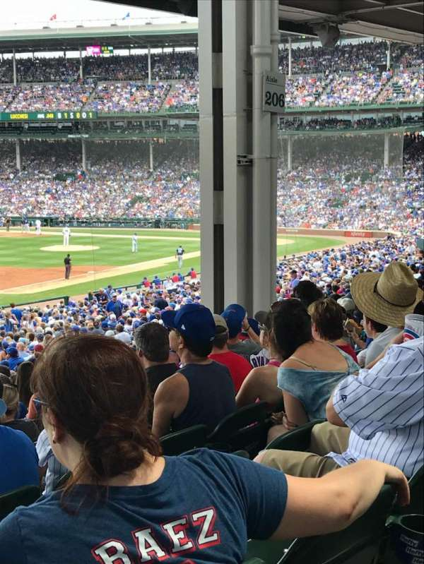 Wrigley Field, section: 206, row: 13, seat: 4