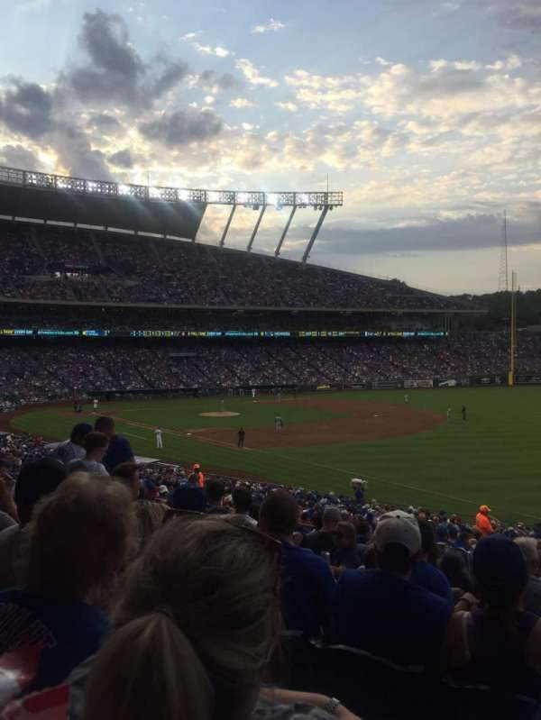 Kauffman Stadium, section: 243, row: KK, seat: 11