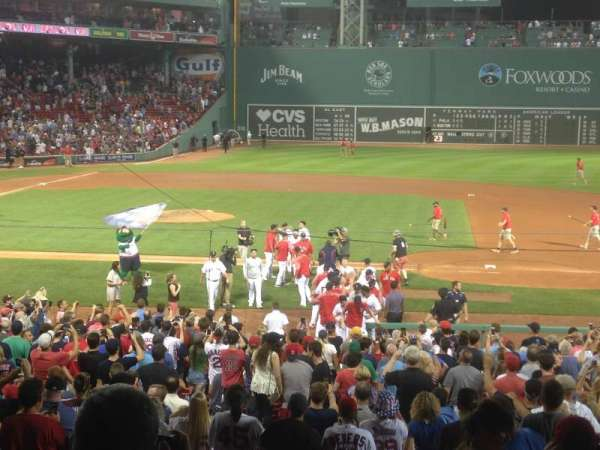 Fenway Park, section: Grandstand 15, row: 1, seat: 22