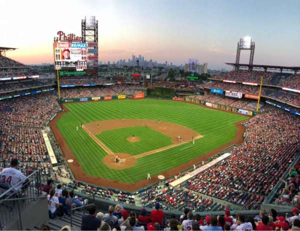 Citizens Bank Park, section: 419, row: 1, seat: 18