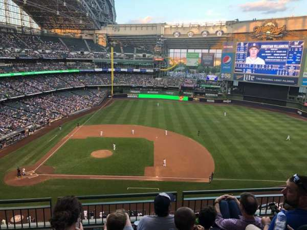 Miller Park, section: 415, row: 4, seat: 10