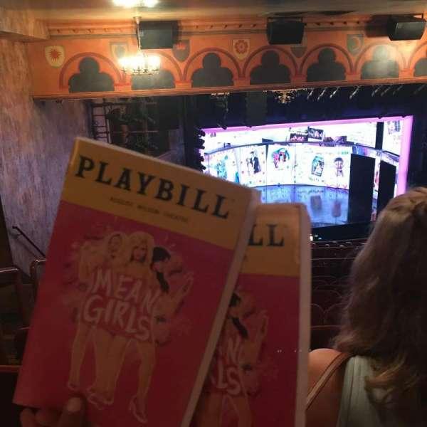 August Wilson Theatre, section: Mezzanine L, row: Q, seat: 17,19
