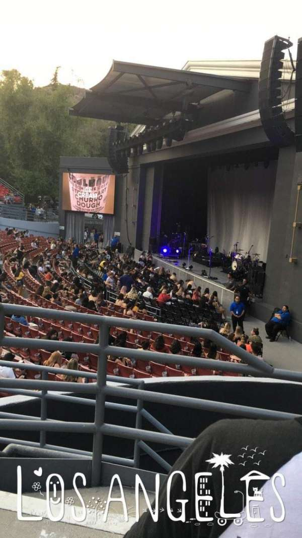 The Greek Theatre, section: South Terrace L1, row: CC, seat: 16