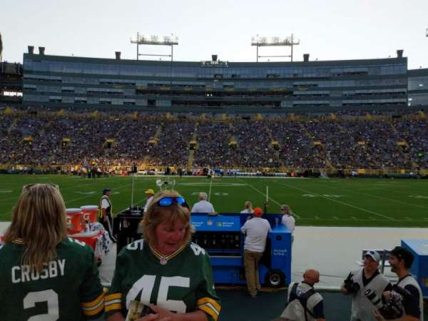 Lambeau Field, section: 119, row: 3, seat: 12