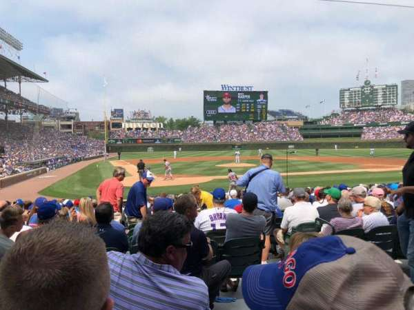 Wrigley Field, section: 121, row: 3, seat: 1