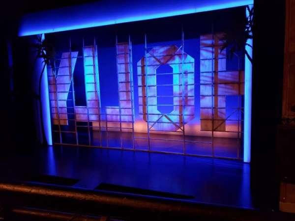 Nederlander Theatre, section: Right Mezzanine, row: A, seat: 2