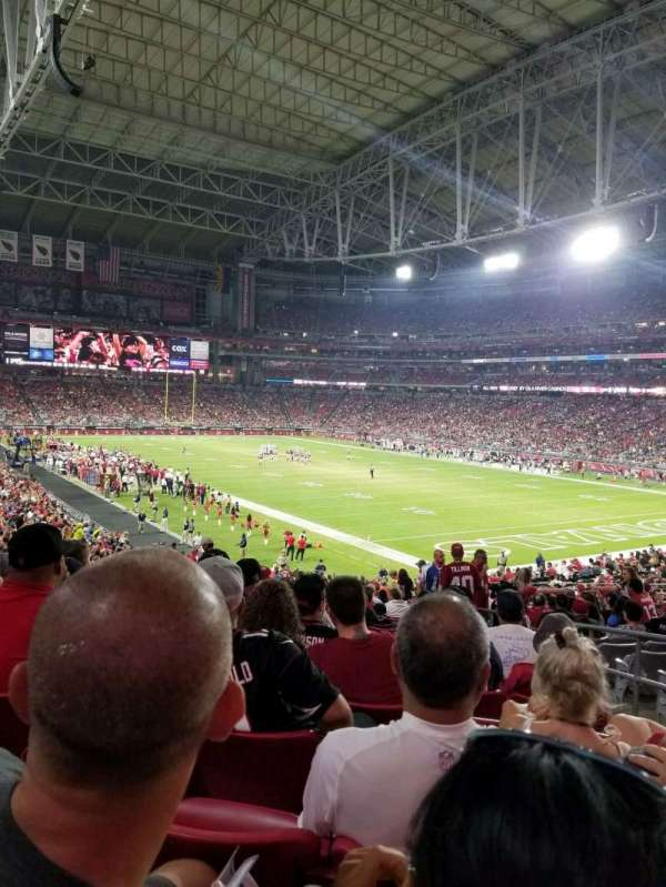 University of Phoenix Stadium, section: 102, row: 36, seat: 4