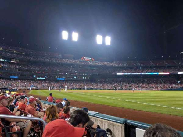 Busch Stadium, section: 135, row: D, seat: 4