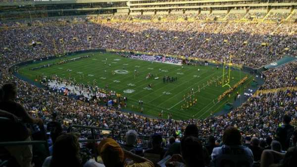 Lambeau Field, section: 632S, row: 10, seat: 3