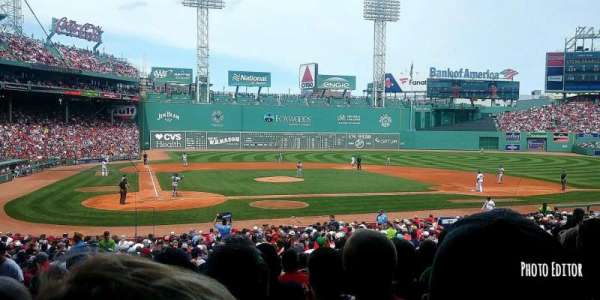 Fenway Park, section: Loge Box 124, row: NN, seat: 4