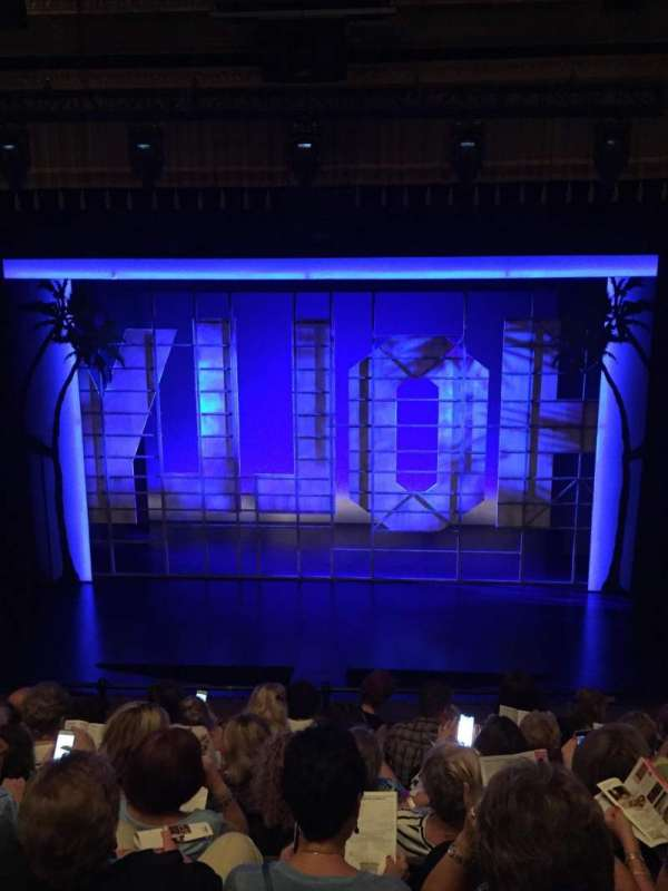 Nederlander Theatre, section: Mezzanine Center, row: G, seat: 105
