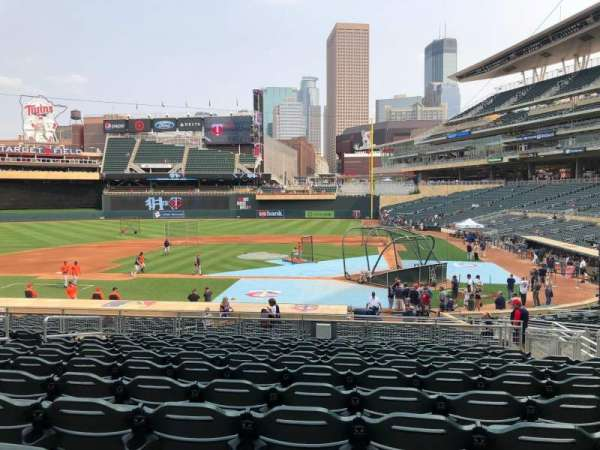 Target Field, section: 118, row: 10, seat: 11