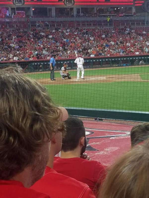 Great American Ball Park, section: 130, row: J, seat: 1