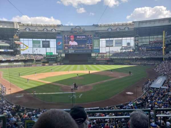 Miller park , section: 218, row: 3, seat: 1
