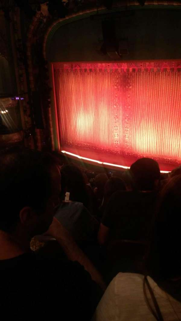 New Amsterdam Theatre, section: Mezzanine R, row: KK, seat: 22