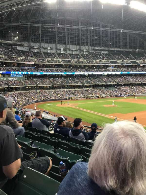 Miller Park, section: 210, row: 6, seat: 16