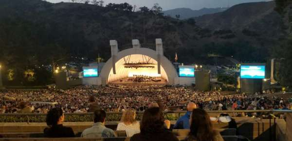 Hollywood Bowl, section: R, row: 6, seat: 38
