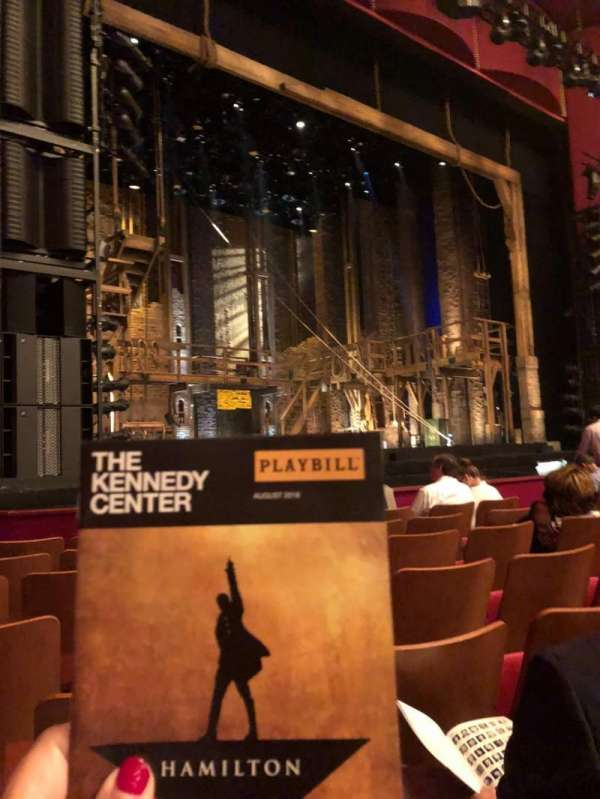 The Kennedy Center Opera House, section: Orchestra, row: L, seat: 15