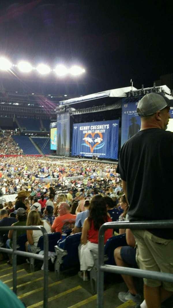 Gillette Stadium, section: 132, row: 22, seat: 2