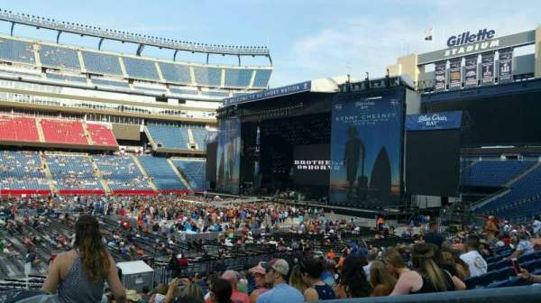 Gillette Stadium Section 132 Row 22 Seat 2 Kenny Chesney