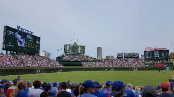 Wrigley Field, section: 106, row: 7, seat: 9