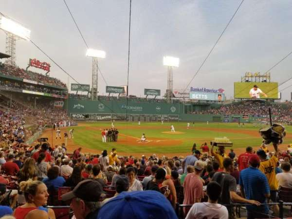 Fenway Park, section: Loge Box 128, row: EE, seat: 1