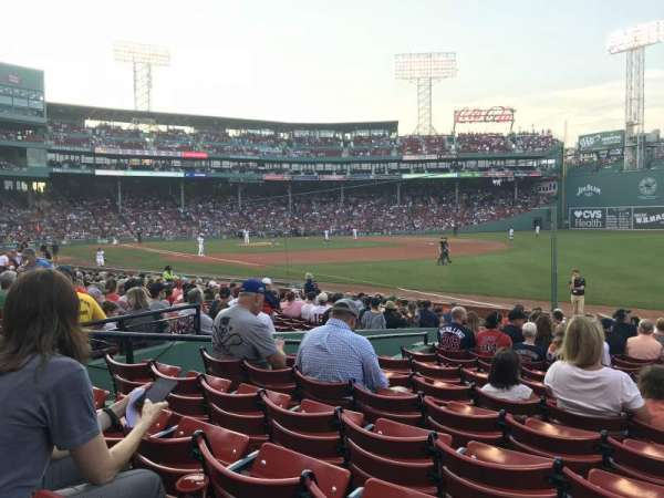 Fenway Park, section: Right Field Box 97, row: HH, seat: 6