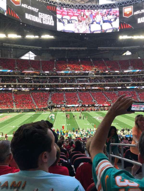 Mercedes-Benz Stadium, section: C130, row: 32, seat: 2