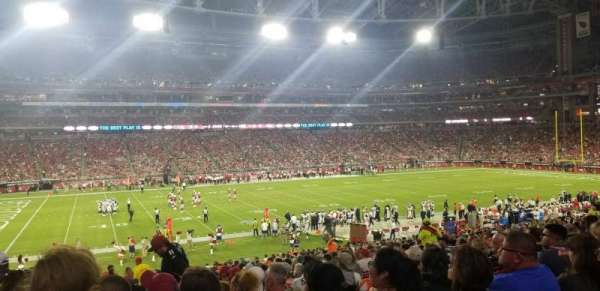 University of Phoenix Stadium, section: 133, row: 34, seat: 16