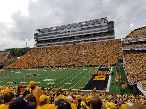 Kinnick Stadium, section: 101, row: 55, seat: 12