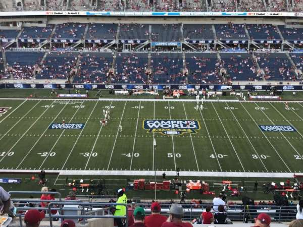 Camping World Stadium, section: 234, row: V, seat: 22