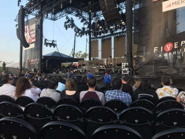 FivePoint Amphitheater, section: Orchestra 2, row: 9, seat: 8