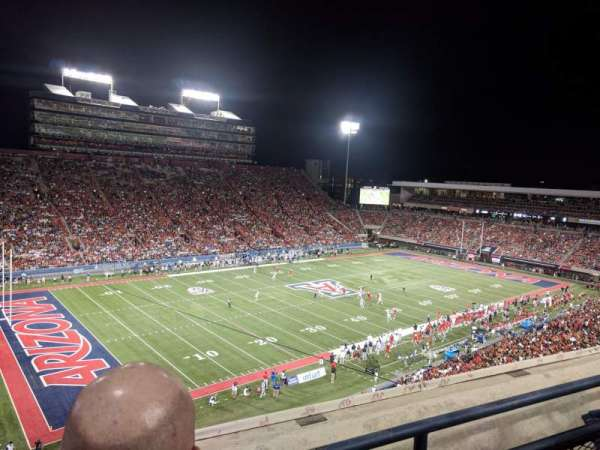 Arizona Stadium, section: 209, row: 2, seat: 25