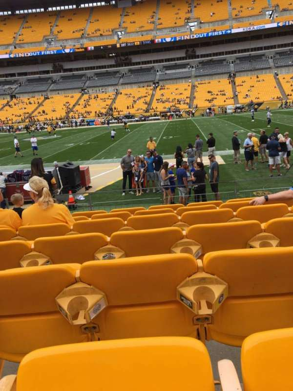 Heinz Field, section: 112, row: G