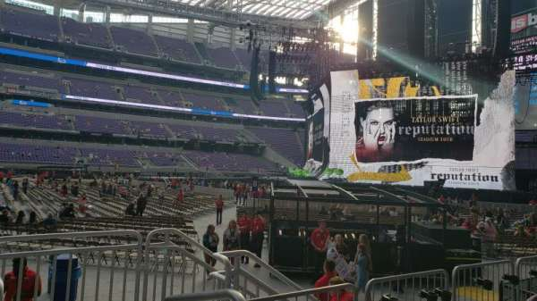 U.S. Bank Stadium, section: V4, row: 3, seat: 1
