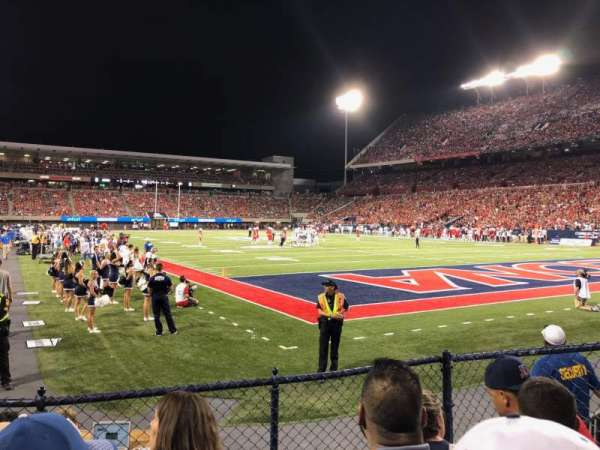 Arizona Stadium, section: 14, row: 5, seat: 18