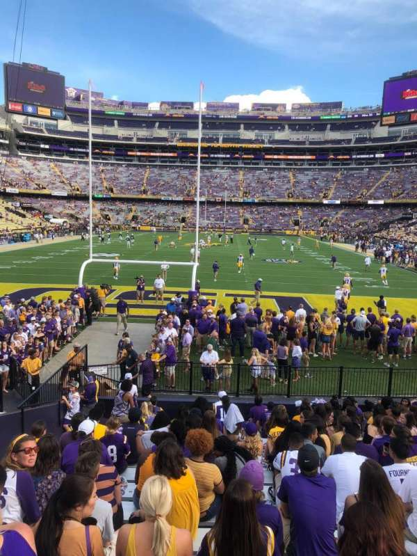 Tiger Stadium, section: 216, row: 1, seat: 4