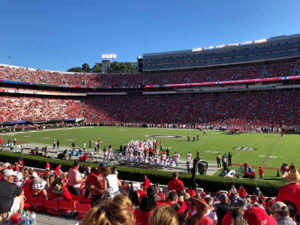 Sanford Stadium, section: 104, row: 27, seat: 21
