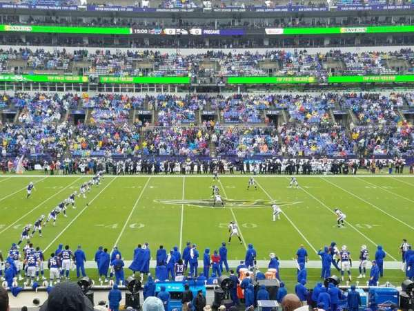 M&T Bank Stadium, section: 100, row: 29, seat: 7