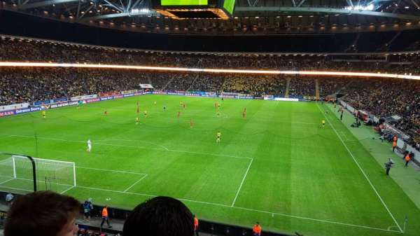 Friends Arena, section: 222, row: 2, seat: 203