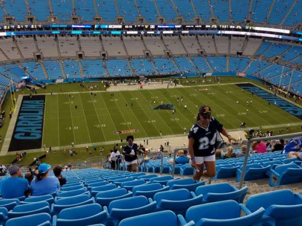 Bank of America Stadium, section: 545, row: 33, seat: 4