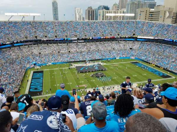 Bank of America Stadium, section: 545, row: 33, seat: 5