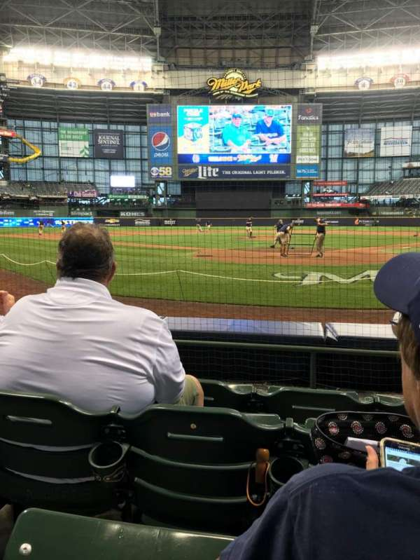 Miller Park, section: 118, row: 4, seat: 6