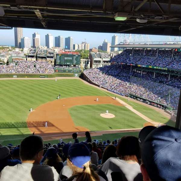 Wrigley Field, section: 410L, row: 8, seat: 12