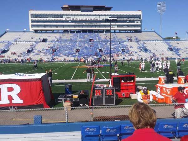 University of Kansas Memorial Stadium, section: 121, row: 7, seat: 23