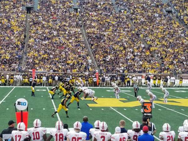 Michigan Stadium, section: 2, row: 9, seat: 16