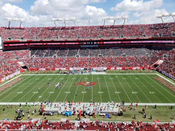 Raymond James Stadium, section: 311, row: A, seat: 13
