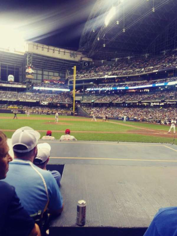 Miller park, section: 121, row: 7, seat: 15