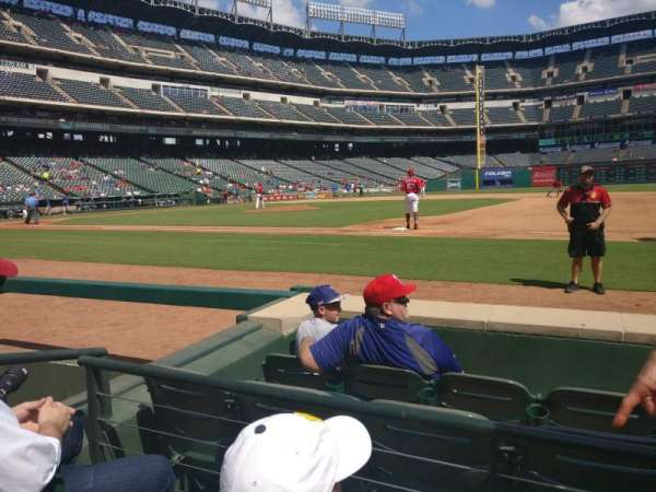 Globe Life Park in Arlington, section: 34, row: 2, seat: 15