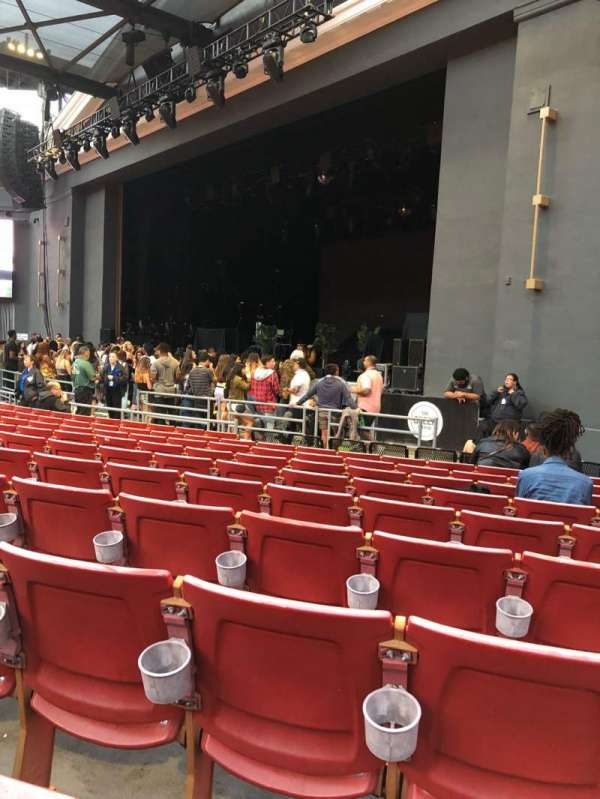 The Greek Theatre, section: A Right, row: K, seat: 46